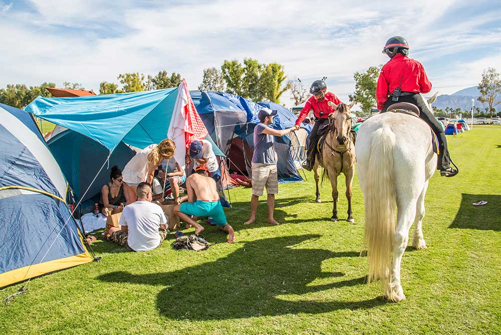 A&O Mounted Patrol 30th Anniversary Providing Mounted Security at Desert Trip 2016